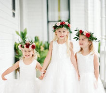 Load image into Gallery viewer, Madison Flower Girl Dress in White