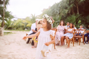 Claire Flower Girl Dress in White