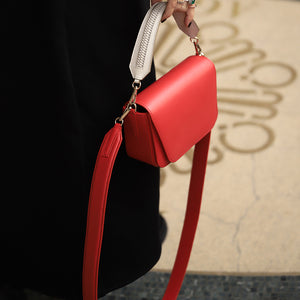 YLIANA YEPEZ Mini Eugenia infinito red clutch
