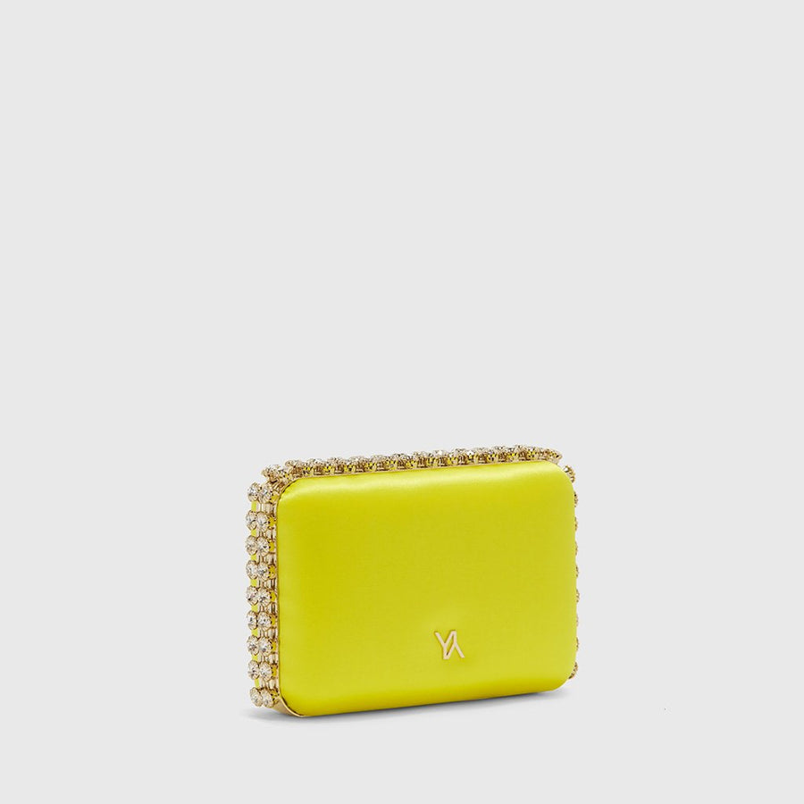 YLIANA YEPEZ Minaudiere clutch Grace yellow satin
