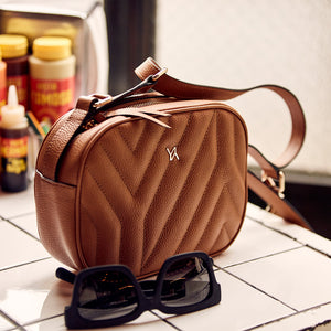 YLIANA YEPEZ handbags Isabella crossbody yy quilted camel weekend collection