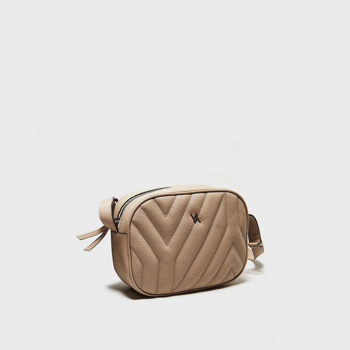 YLIANA YEPEZ handbags Isabella crossbody yy quilted taupe weekend collection