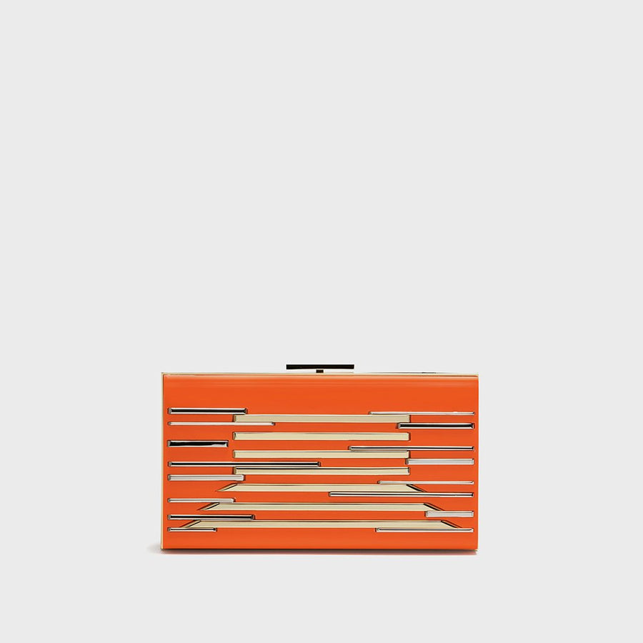 YLIANA YEPEZ Minaudiere clutch Layla resin orange