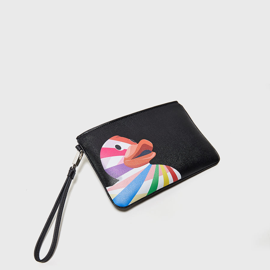 YLIANA YEPEZ Mini Rio black ducky clutch