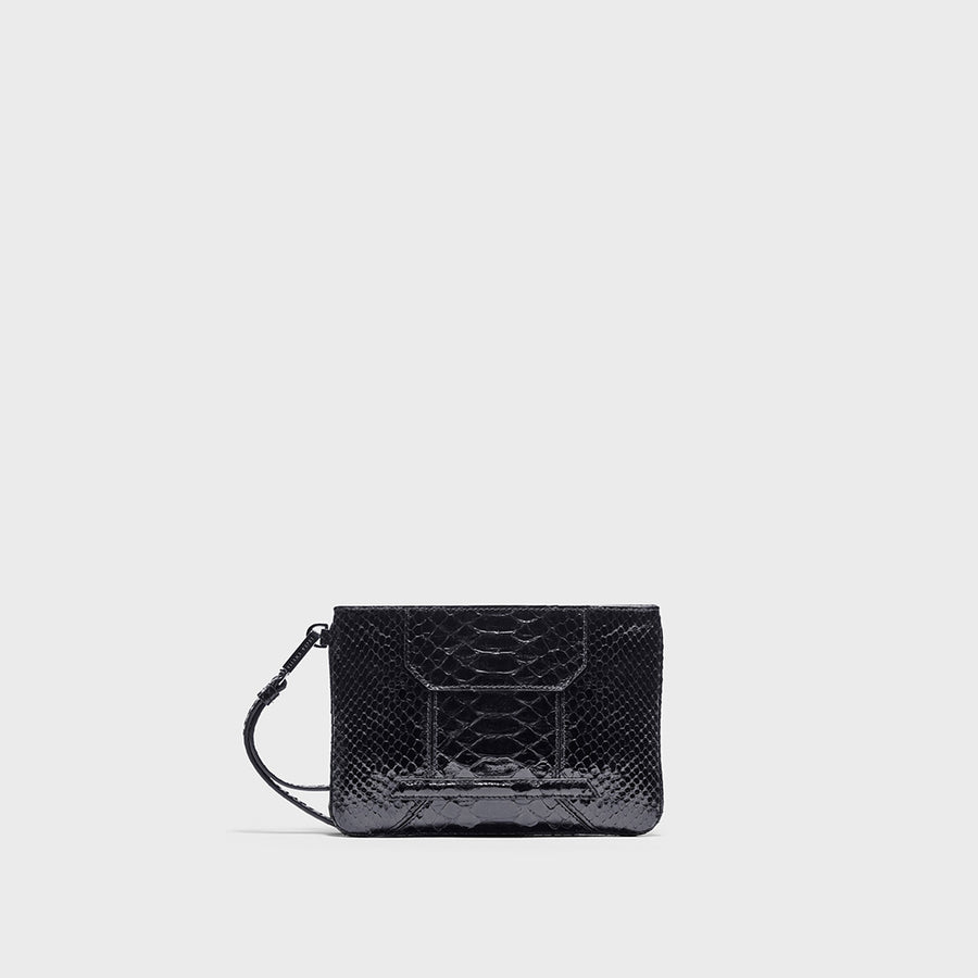 YLIANA YEPEZ handbags Mini Rio clutch python black