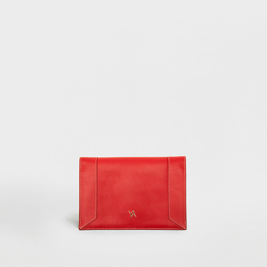YLIANA YEPEZ handbags Mini envelope clutch coral leather