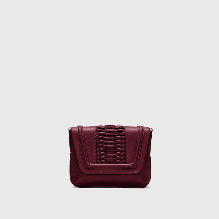 YLIANA YEPEZ Fabiana braided bordeaux clutch