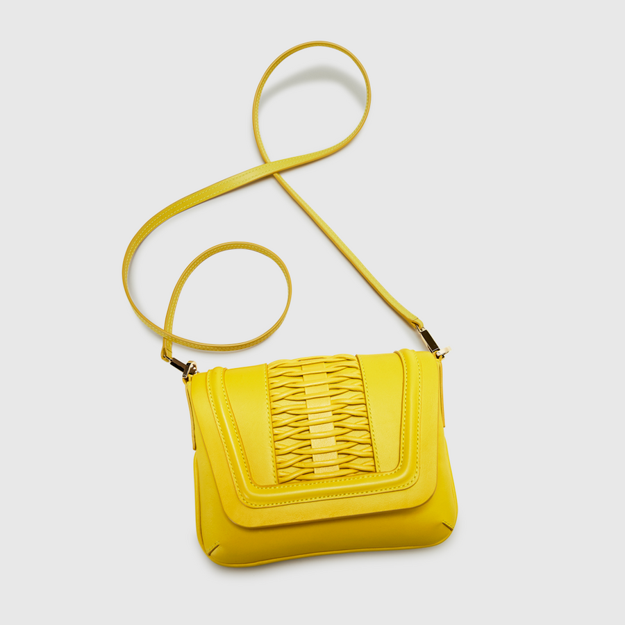 YLIANA YEPEZ handbags fabiana clutch braided leather canary