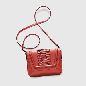 YLIANA YEPEZ Fabiana burnt orange clutch