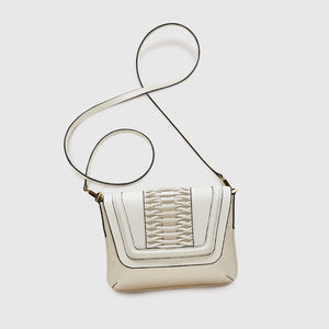 YLIANA YEPEZ handbags fabiana clutch braided leather off white