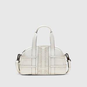 YLIANA YEPEZ handbags medium francesca satchel braided leather off white