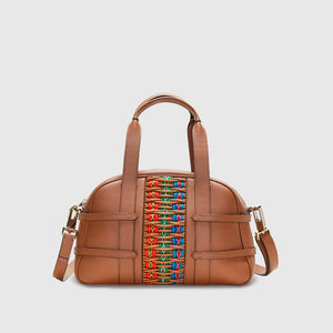 YLIANA YEPEZ bags Medium Francesca inca braided camel satchel