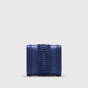 YLIANA YEPEZ Mini Giovanna Braided Navy clutch handbags