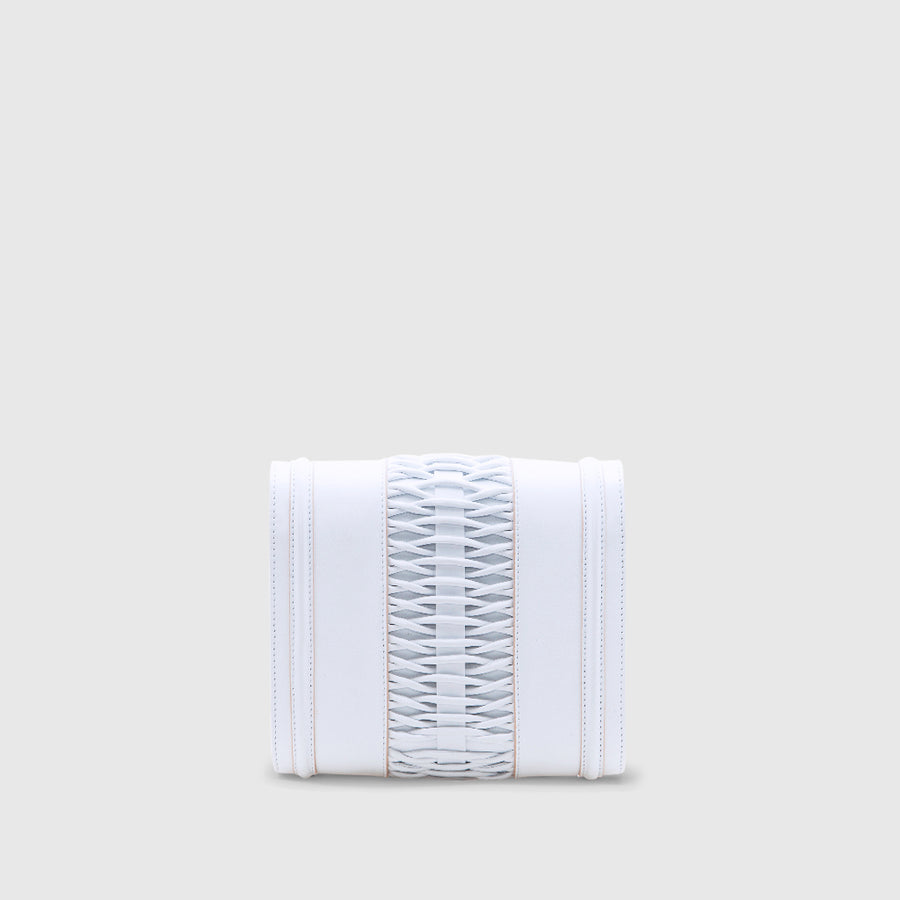 YLIANA YEPEZ handbags Mini Giovanna clutch braided white leather