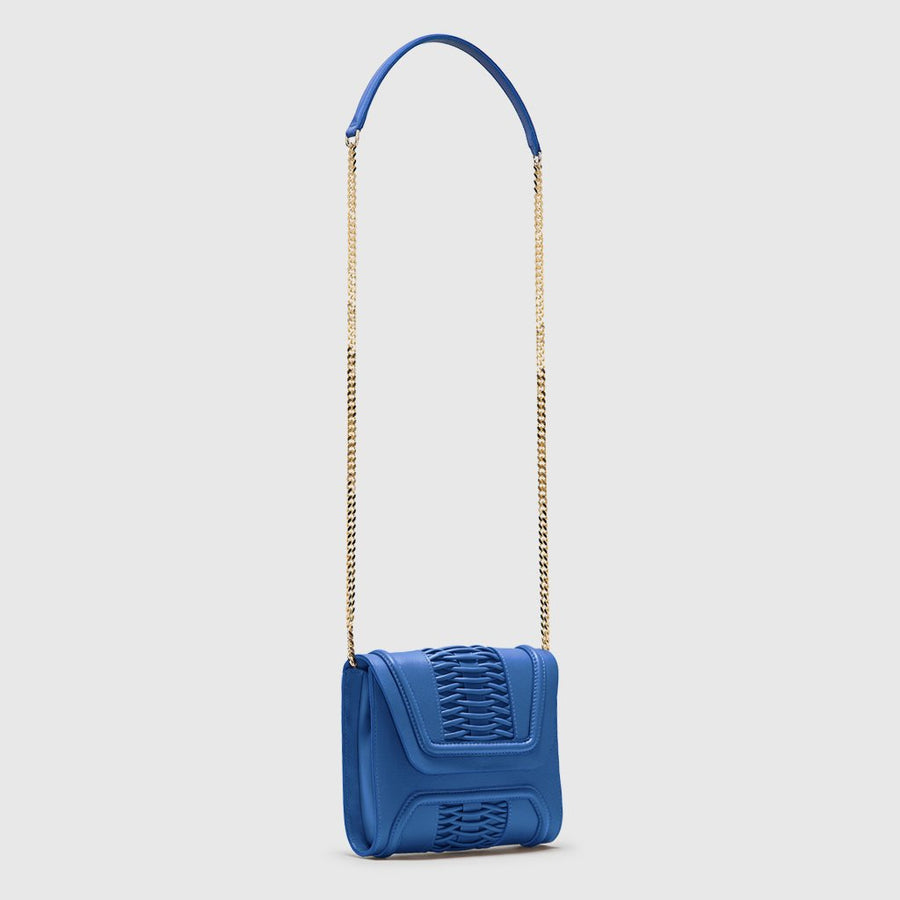 YLIANA YEPEZ handbags Mini Giovanna clutch braided sky