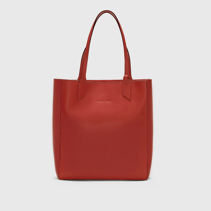 YLLIANA YEPEZ Sarah tote orange burnt leather