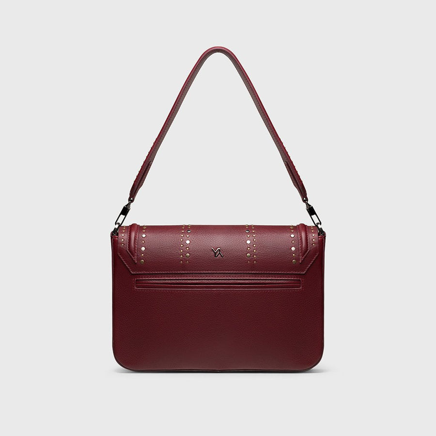 YLIANA YEPEZ bags Eugenia clutch burgundy back