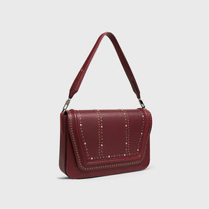 YLIANA YEPEZ bags Eugenia clutch burgundy side
