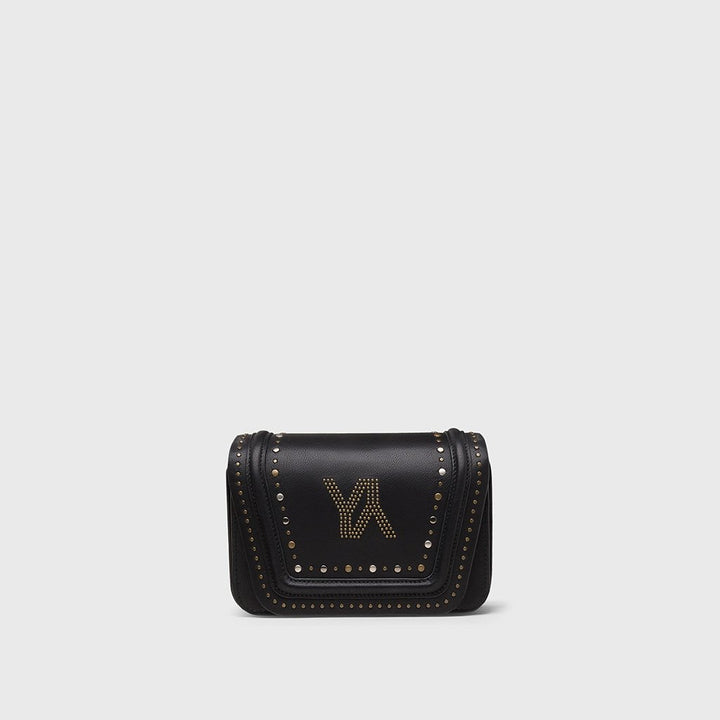 YLIANA YEPEZ bags mini Eugenia clutch black metallic studs