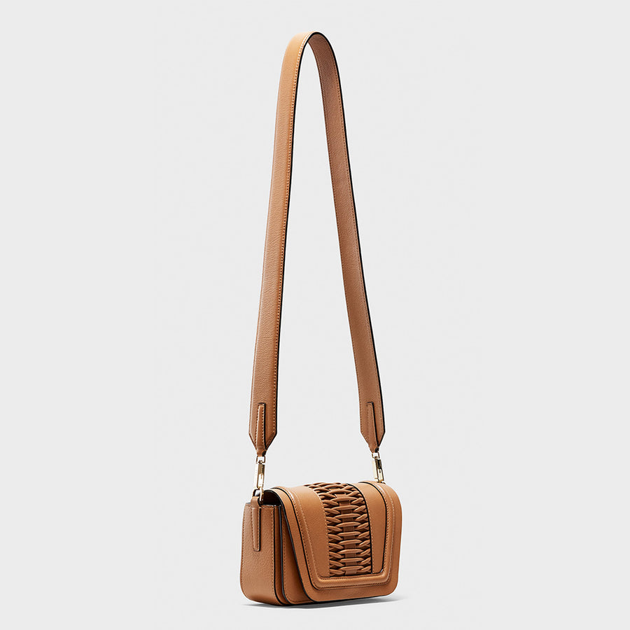 YLIANA YEPEZ handbags Mini Eugenia clutch braided camel