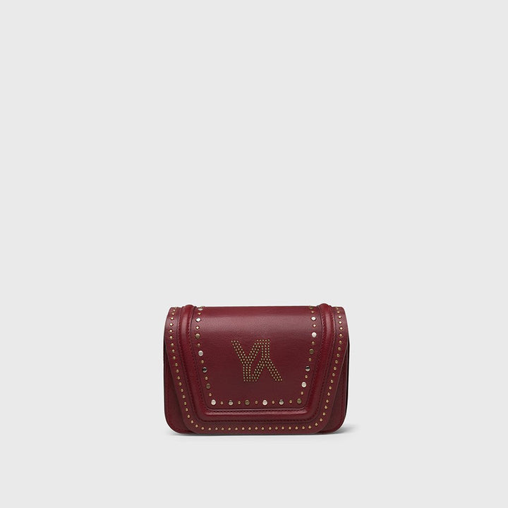 YLIANA YEPEZ bags mini Eugenia clutch burgundy metallic studs