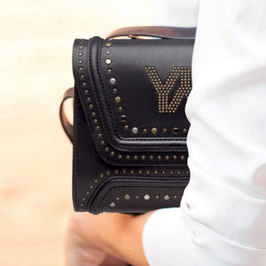 YLIANA YEPEZ bags Mini Giovanna clutch metallic studs black zoom