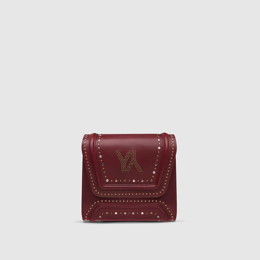 YLIANA YEPEZ bags Mini Giovanna clutch burgundy metallic studs