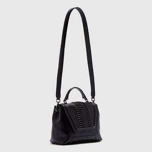 YLIANA YEPEZ handbags Alessandra satchel crossbody braided black