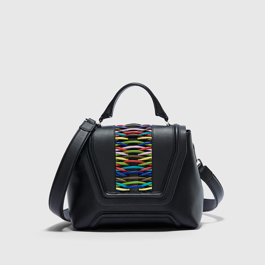 YLIANA YEPEZ handbags Alessandra satchel crossbody braided multicolor