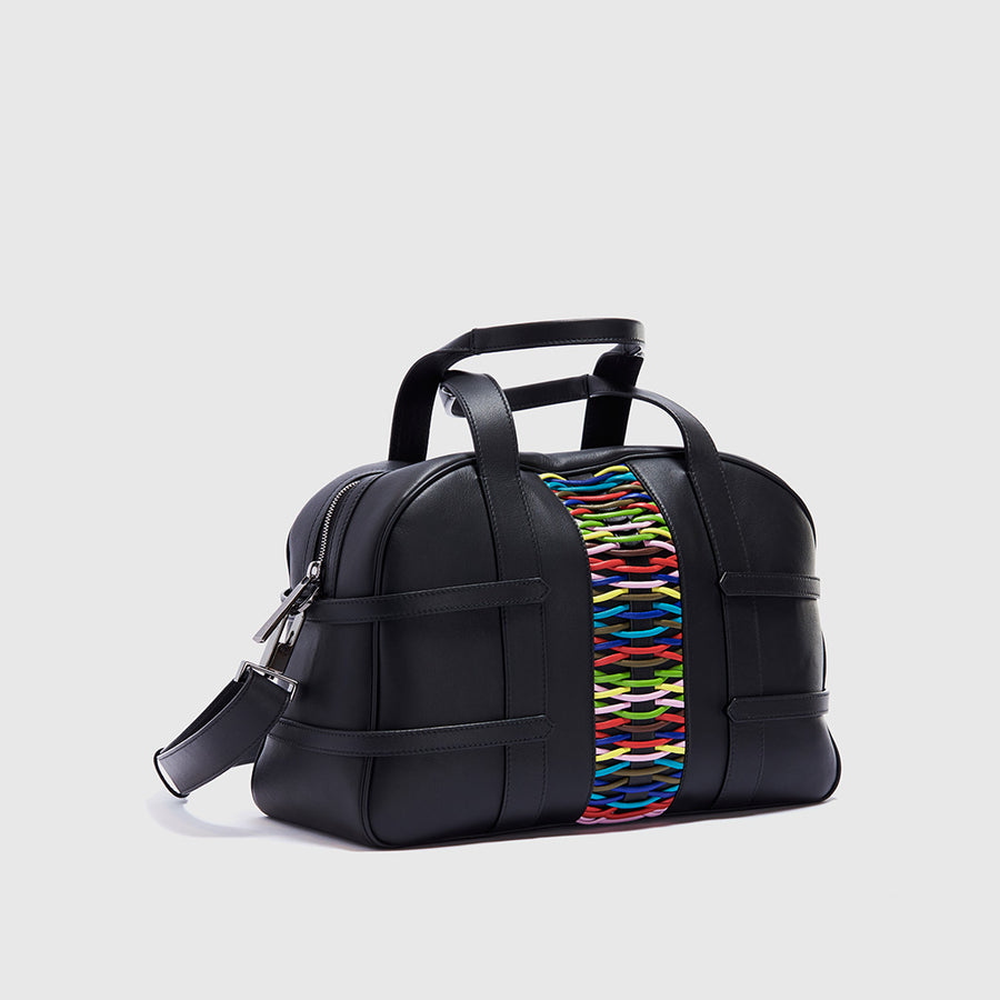 YLIANA YEPEZ handbags francesca satchel braided multicolor