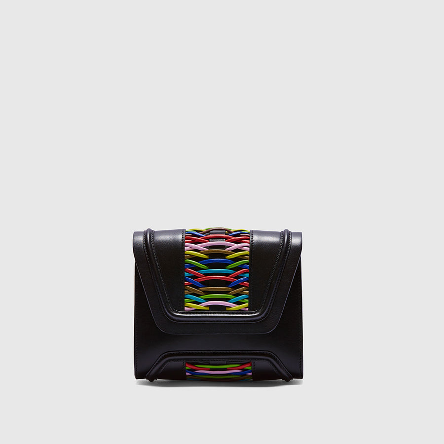 YLIANA YEPEZ handbags Mini Giovanna clutch braided multicolor
