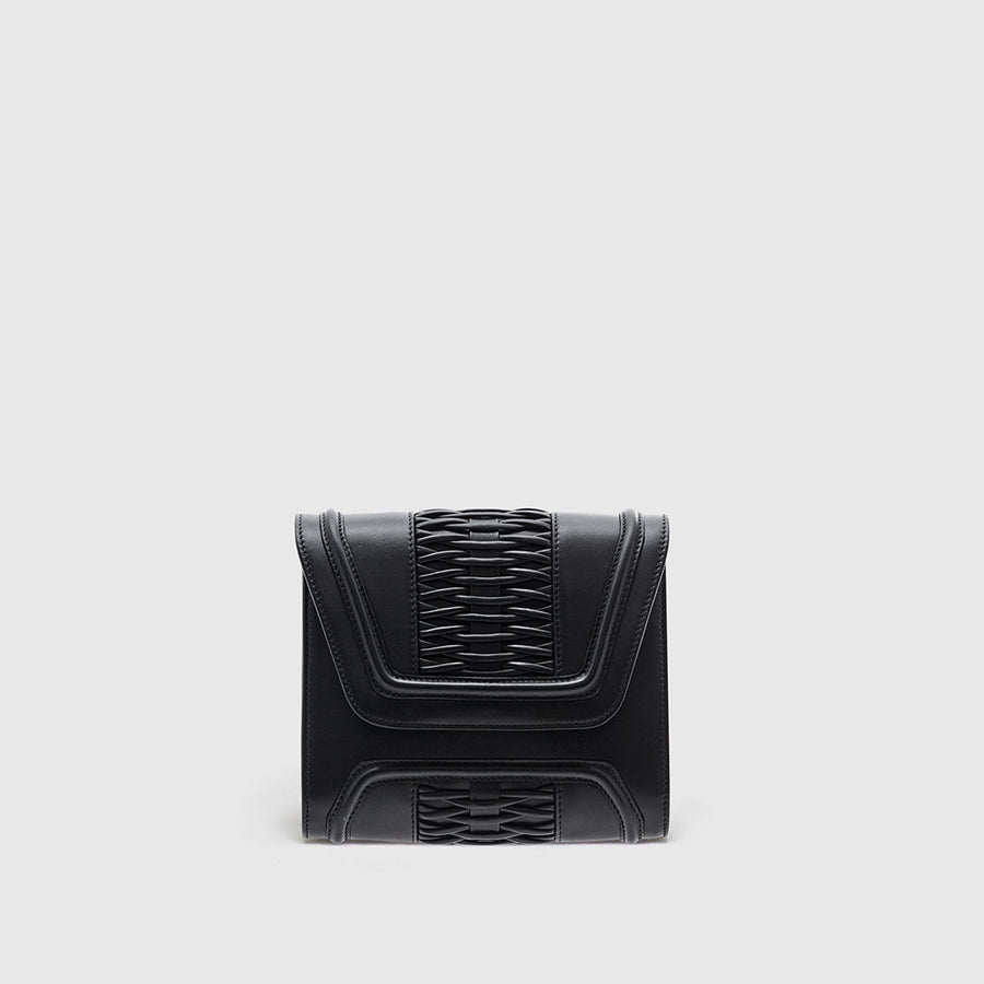 YLIANA YEPEZ handbags Mini Giovanna clutch braided black