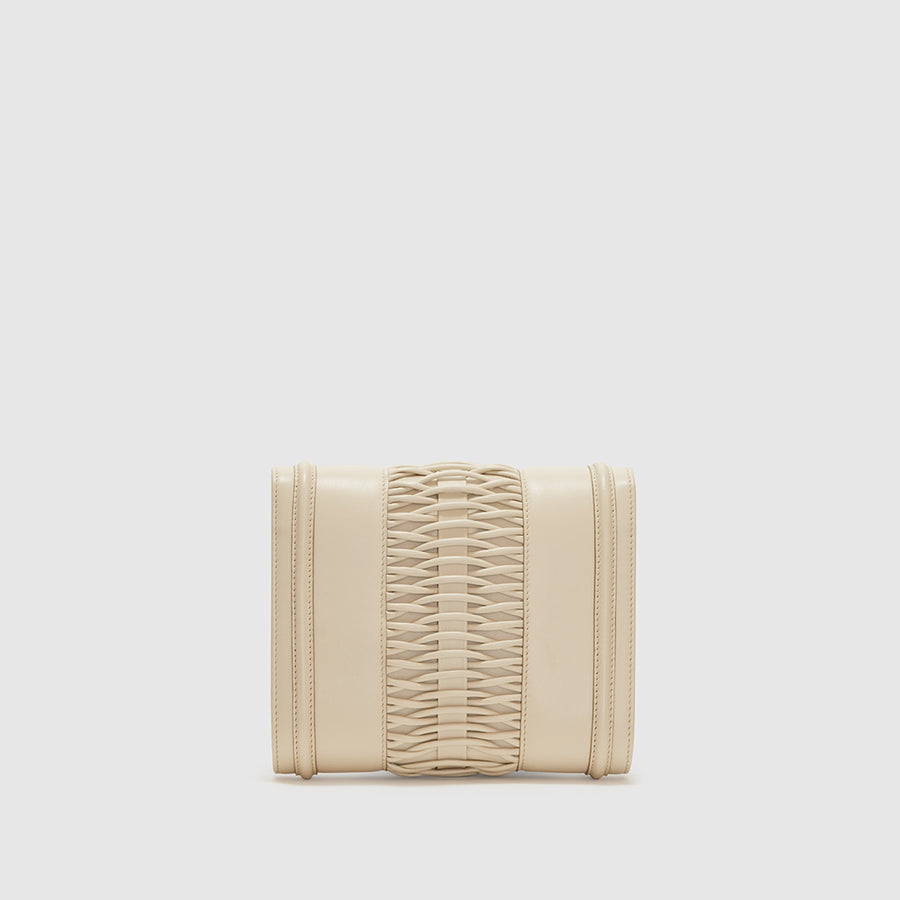 YLIANA YEPEZ handbags Mini Giovanna clutch braided chalk