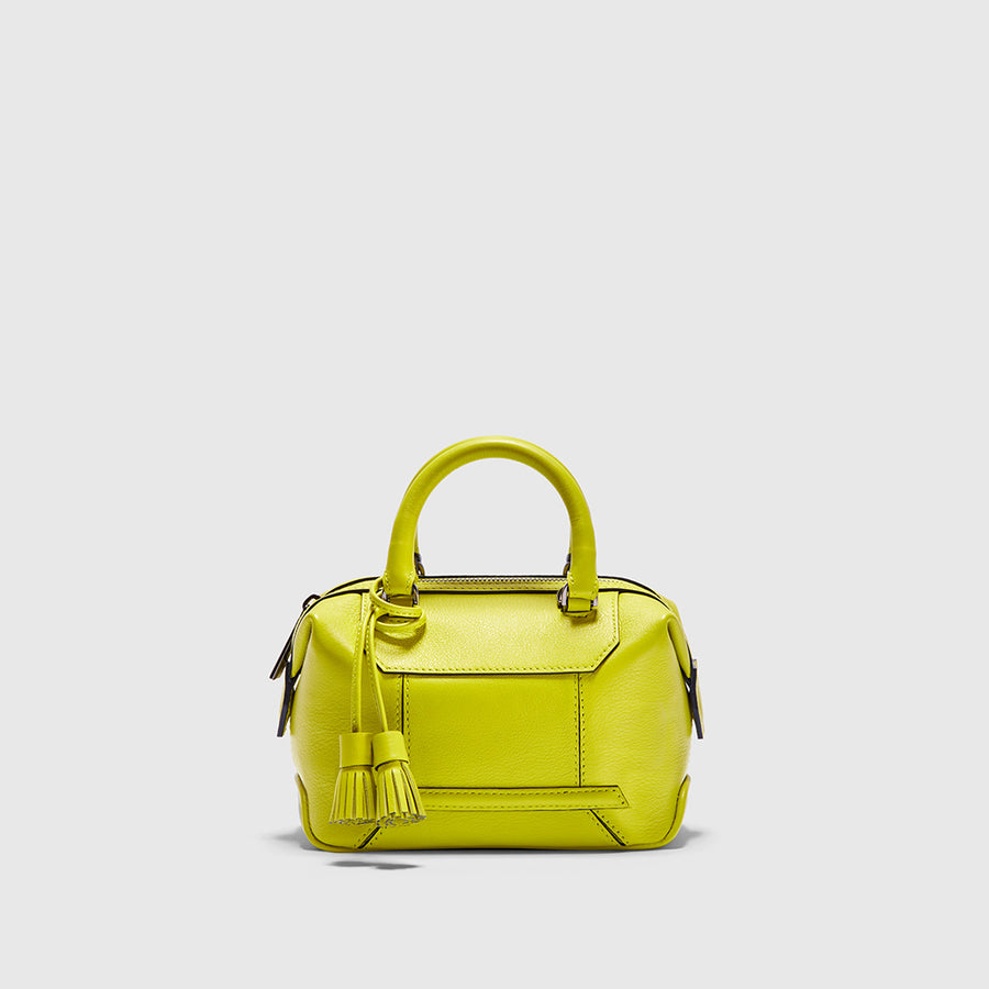 YLIANA YEPEZ handbags Mini Monte Carlo pistachio leather satchel
