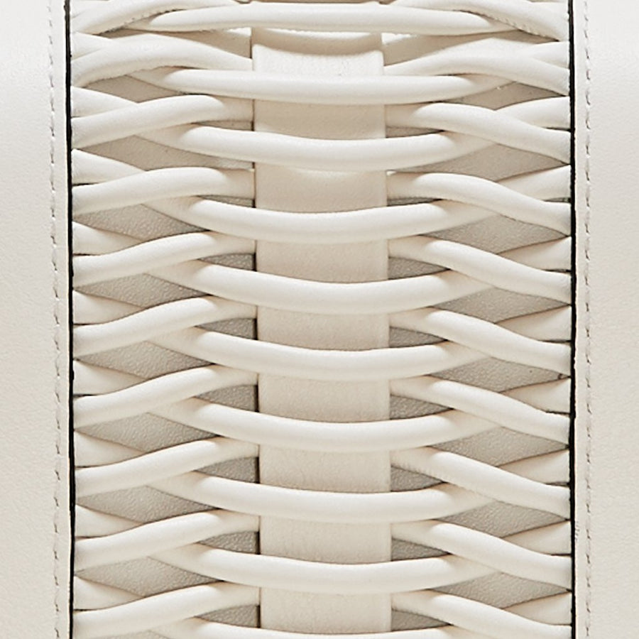 YLIANA YEPEZ handbags mini eugenia clutch braided leather off white