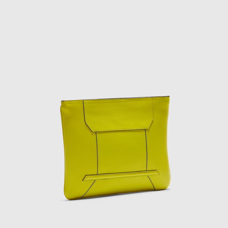 YLIANA YEPEZ handbags Rio pistachio leather clutch