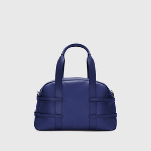 YLIANA YEPEZ Medium Francesca Braided Navy Satchel