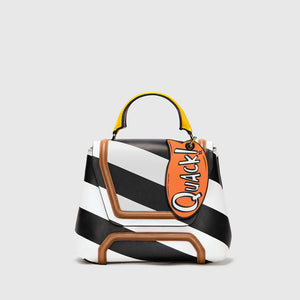 ALESSANDRA STRIPED LEATHER
