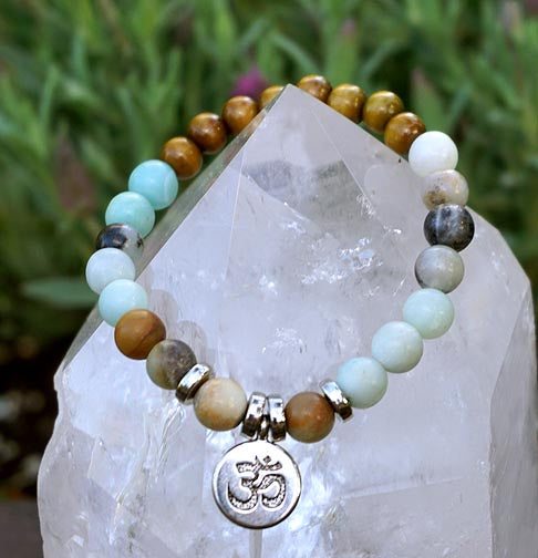 Amazonite, Sandalwood and OM