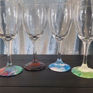 Hand-painted Wine Glasses - Party - Ashley Lisl Art
