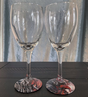 Hand-painted Wine Glasses - Zebra - Ashley Lisl Art
