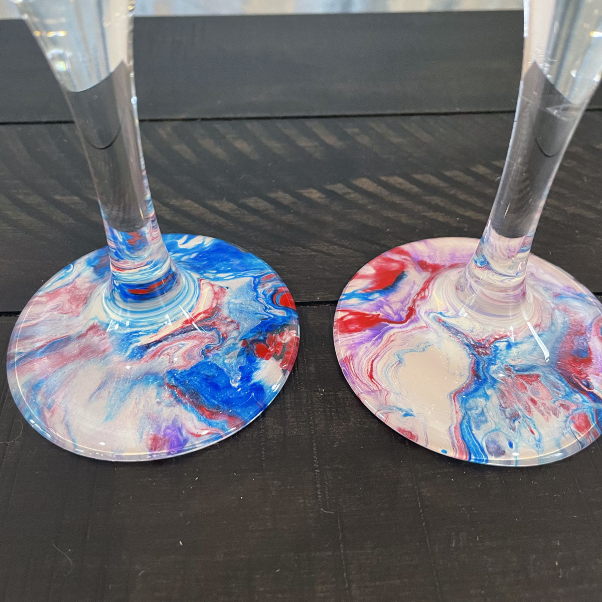 Hand-painted Wine Glasses - Circus - Ashley Lisl Art