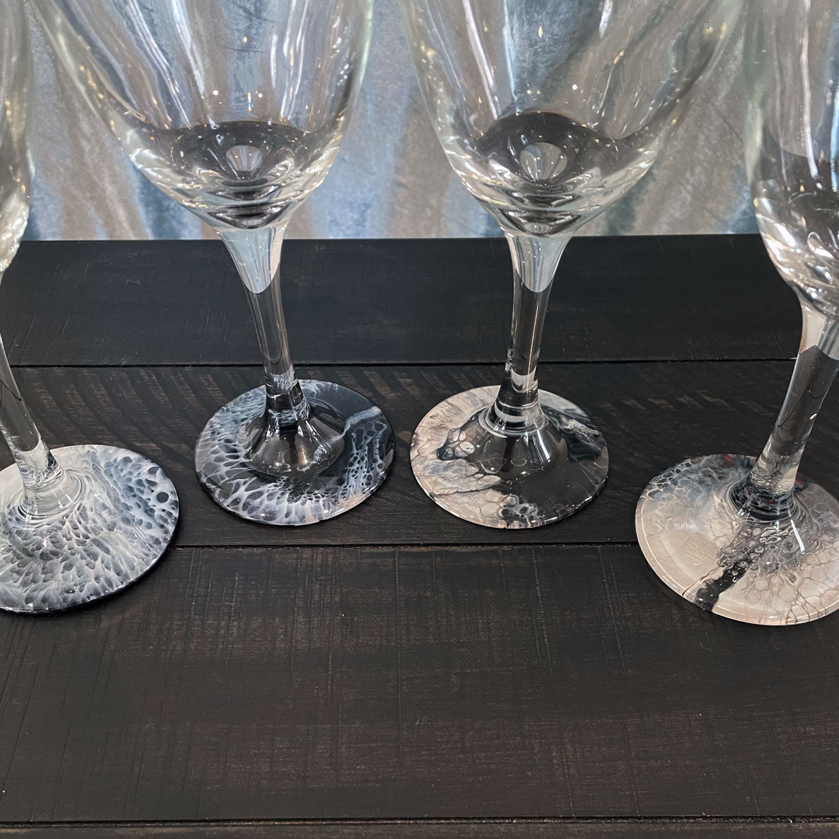Hand-painted Wine Glasses - Dangerous - Ashley Lisl Art