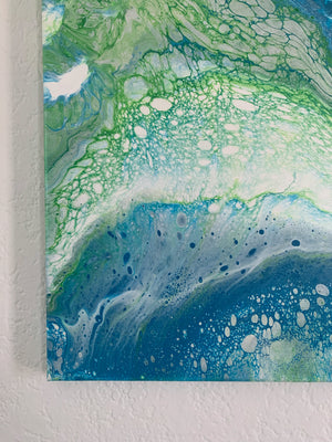 "Canvas Painting ""Algae"" - Ashley Lisl Art"