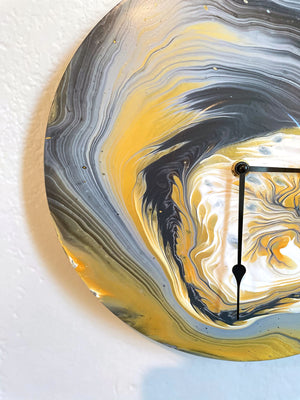 Within - Upcycled Vinyl Record Pour Painting Clock