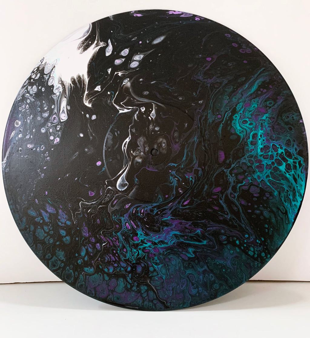 "Vinyl Art Painting ""Cosmic Wave"" - Ashley Lisl Art"