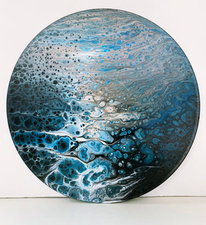 "Vinyl Art Painting ""Dreary"" - Ashley Lisl Art"