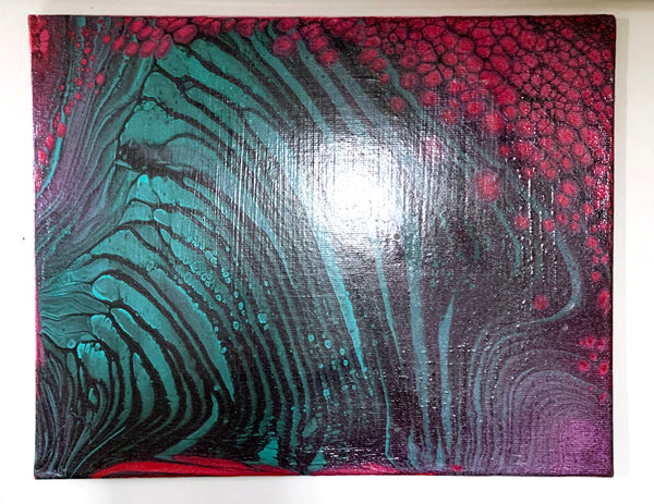"Canvas Board Painting ""Flowernado"" - Ashley Lisl Art"