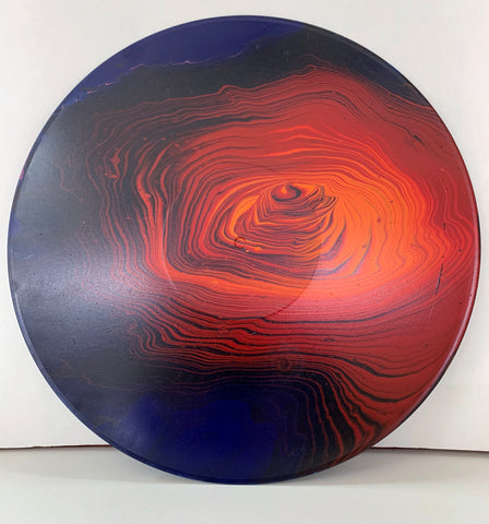 "Vinyl Art Painting ""Lava Rose"" - Ashley Lisl Art"