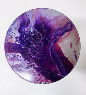 "Vinyl Art Painting ""Purple Mountain"" - Ashley Lisl Art"